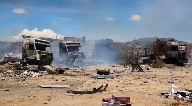 Mientras COVID-19 se apodera del Yemen, aviones de guerra saudíes atacan camiones cargados de suministros médicos
