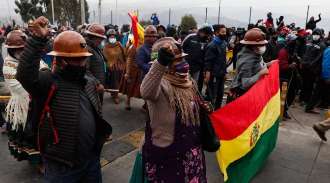 Bolivia se dirige a un momento decisivo con las protestas masivas contra el gobierno de Añez, apoyado por los EE.UU.