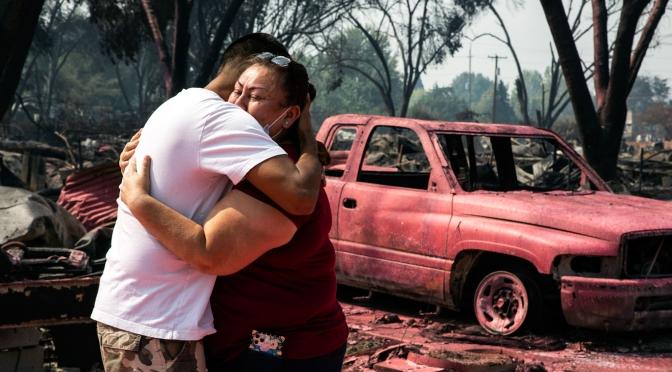 Oregón no puede luchar contra los incendios forestales porque sus helicópteros fueron enviados a Afganistán